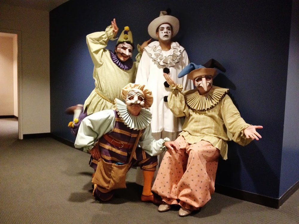 Just clowning around. The clowns with Pagliacci from the 2011 staging by Opera San Jose.