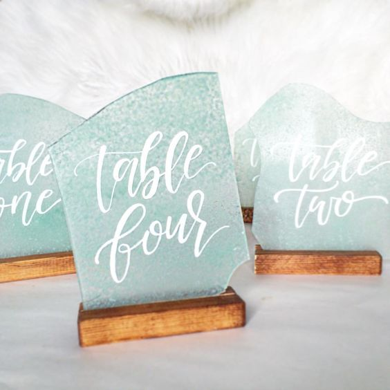 Sea Glass Table Numbers