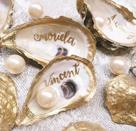 Oyster Escort Cards
