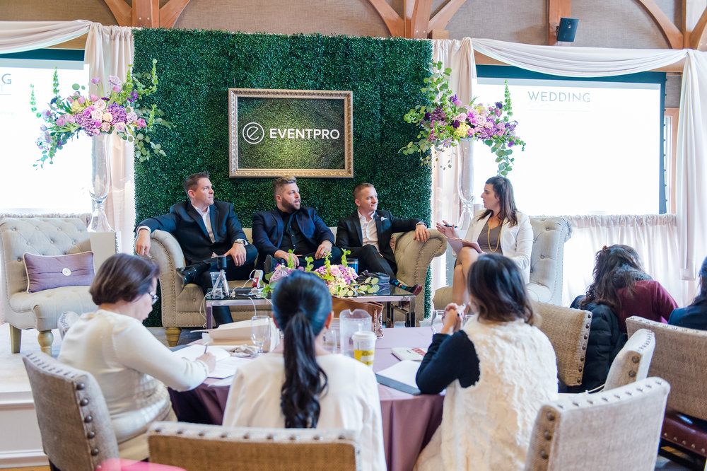 Our DJ panel was a huge hit!  Do you tip the owner of a company?  Attend and find out!  Photo courtesy of Hamilton Photography