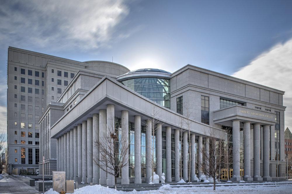 TOTALITARIAN STYLE ARCHITECTURE:COLORADO STATE SUPREME COURT BUILDING. ARCHITECT:  KURT FENTRESS
