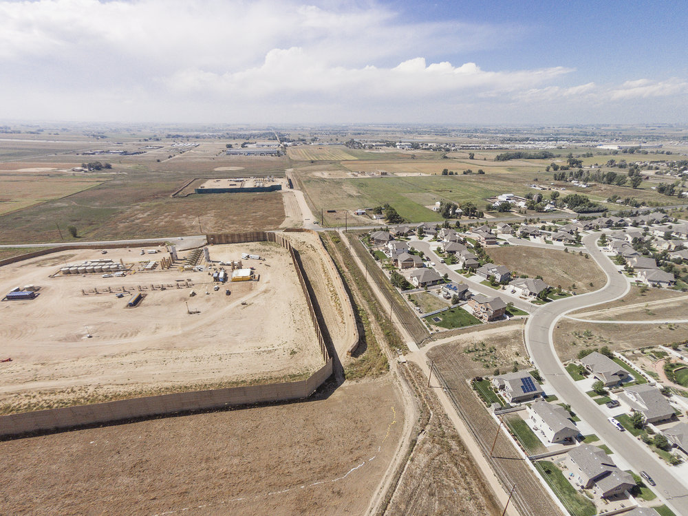 FRACKING FIELD/RESIDENTIAL DEVELOPMENT
