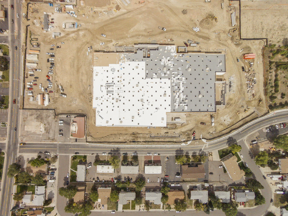 WALMART SUPER-CENTER UNDER CONSTRUCTION