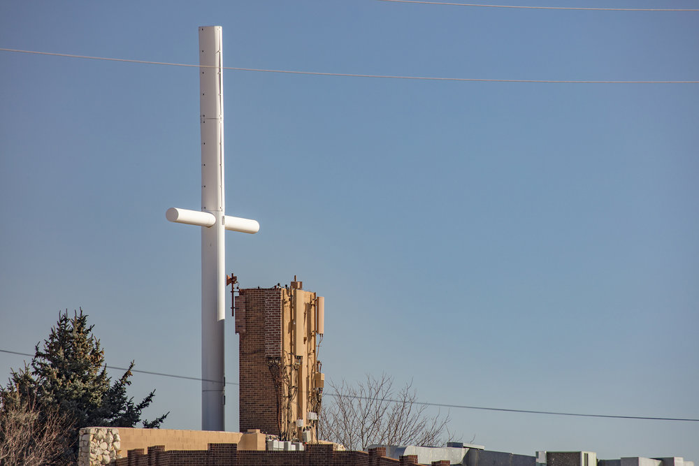 CRUCIFIX/CELL TOWER