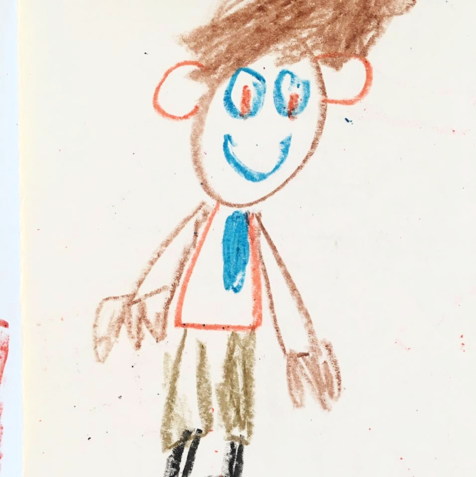 A very representative portrait of Jacob by a brilliant kindergartner at Bethune Elementary.