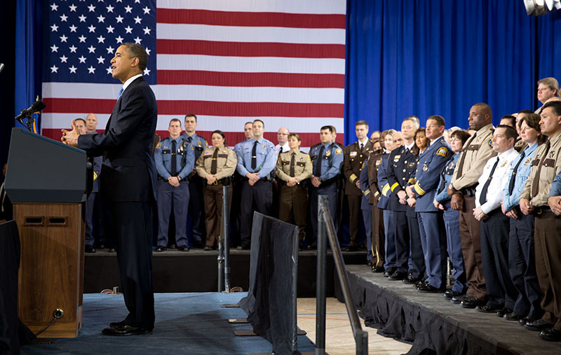 President Obama's Task Force on 21st Century Policing in 2015 recommended research-proven best practices for building trust between police and the communities they serve. The President spoke at the Minneapolis Police Department Special Operations Center on February 4, 2013.