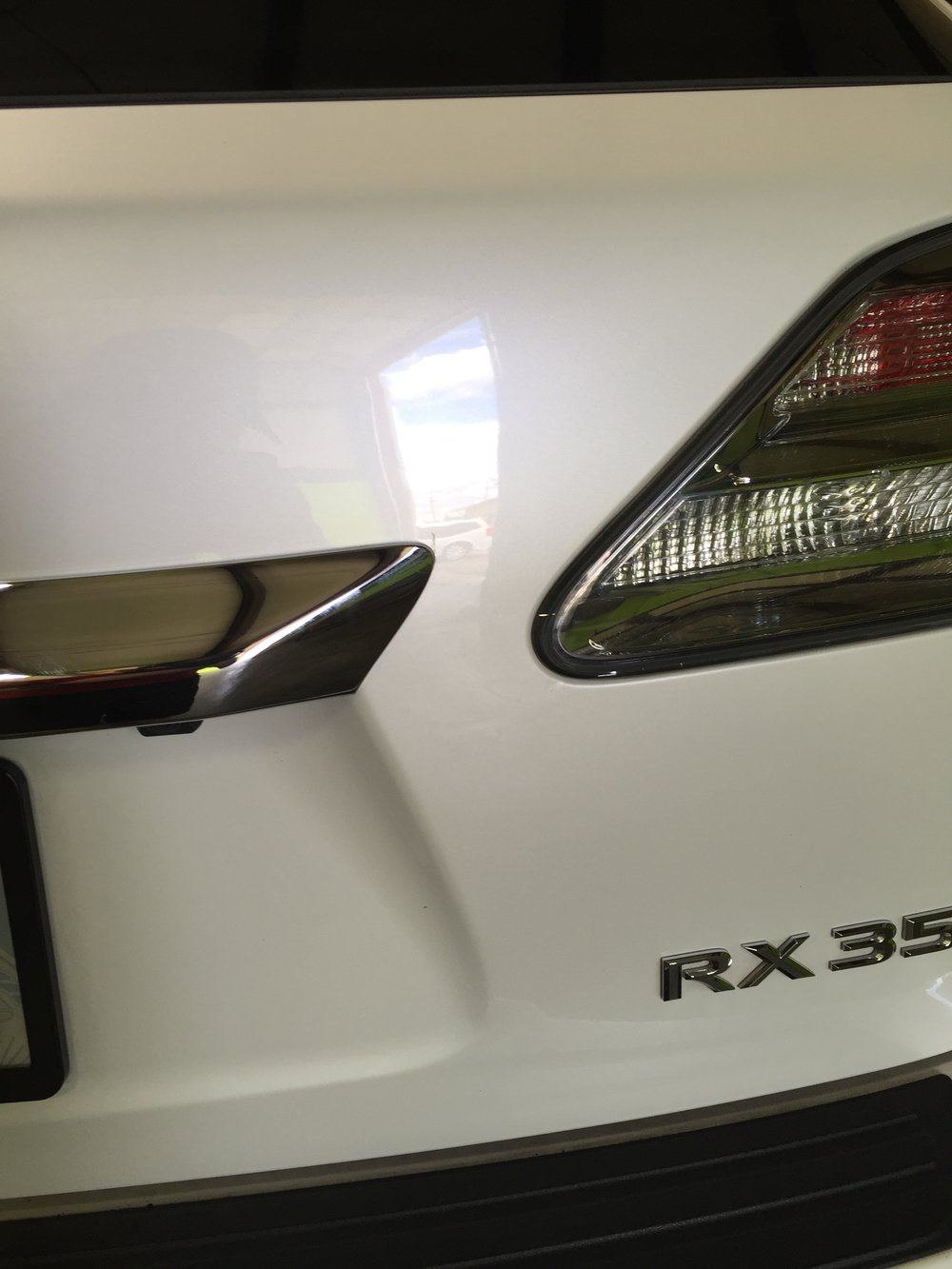 After Paintless Dent Repair - No body work, saving the factory paint!
