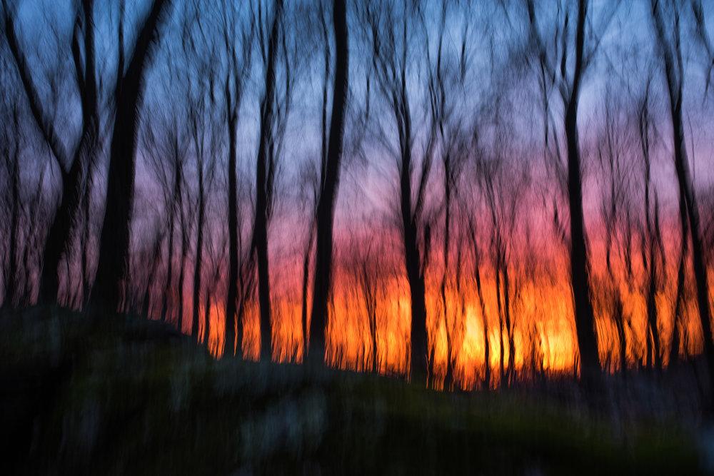 Deep colors of a spring sunset, Devils Den