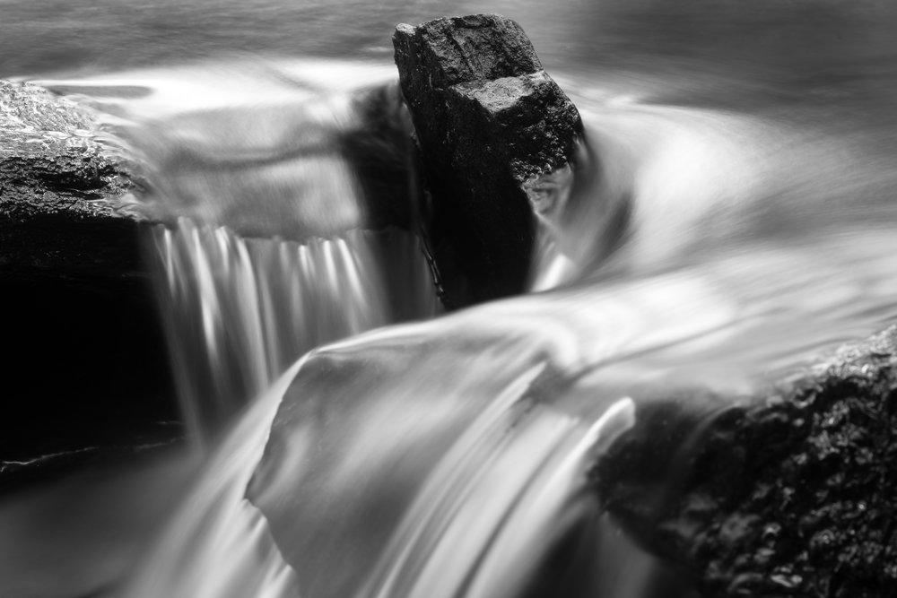 Stone in waterfall, Easton