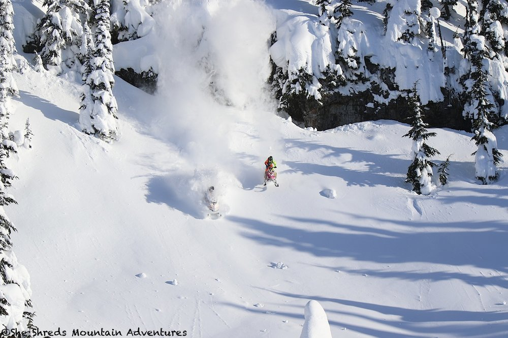 Cody Mcnolty and Jake Warner find the unaffected snow from the wind on Jan 1 in Pemberton!