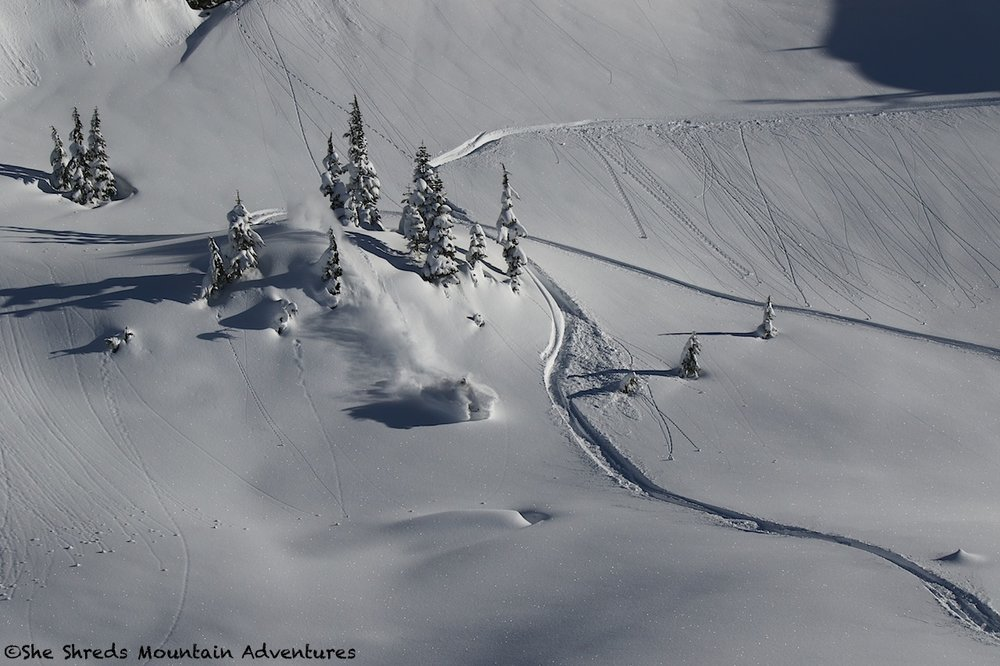 Photo: Russ Mclaughlin Rider: Julie-Ann Chapman.  Photo taken on Jan 23 in Pemberton BC