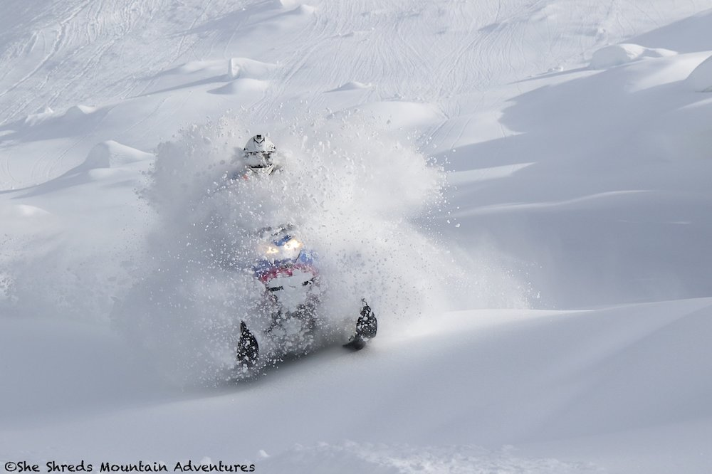 Photo taken Feb 8 south of Whistler. Photo by Russ Mclaughlin (Rider Julie-Ann Chapman)