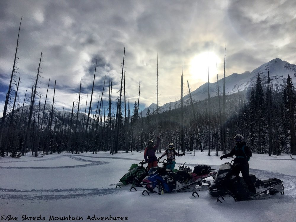Photo taken Feb 5 in Pemberton. (Riders: Sandra, Leatt, and Christine Photo by Julie-Ann Chapman)