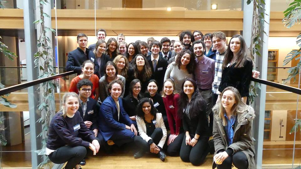 Our international students during a visit to the European Parliament