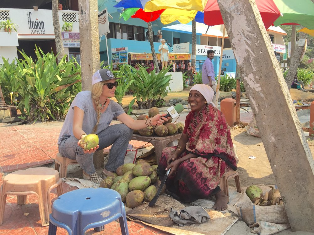 A stone's throw from the Arabian Sea, Mandela sits down with the famous Coconut Mama (Eshota). Eshota has been cutting coconuts on the beach for 30+ years.