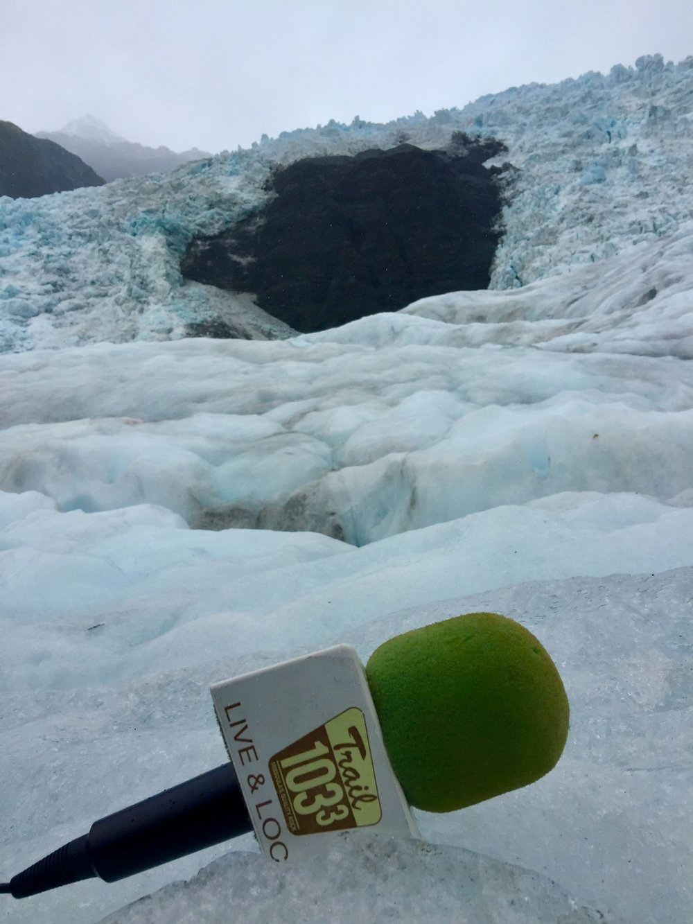 After a 5 minute helicopter flight from the Tasman Sea, this interview was recorded on a hanging glacier in the Southern Alps. Featuring glaciology of the planet with a focus on Franz Josef Glacier. Recorded on moving ice while trekking the Franz Josef Glacier on the west coast of New Zealand's South Island.