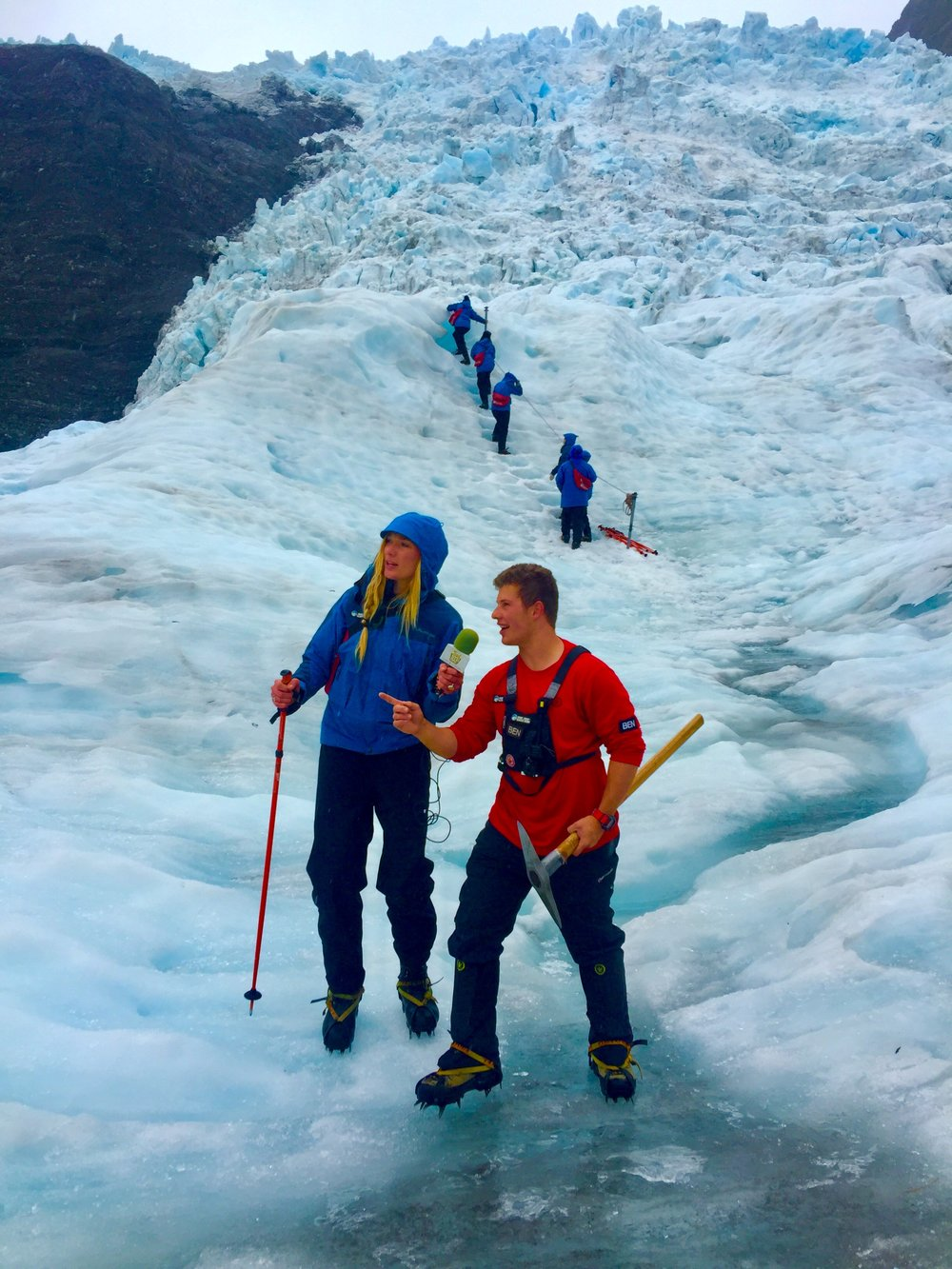 After a 5 minute helicopter flight from the Tasman Sea, this interview was recorded on a hanging glacier in the Southern Alps. Featuring glaciology of the planet with a focus on Franz Josef Glacier. Recorded on moving ice while trekking the Franz Josef Glacier on the west coast of New Zealand's South Island. Featuring the glaciology of New Zealand.