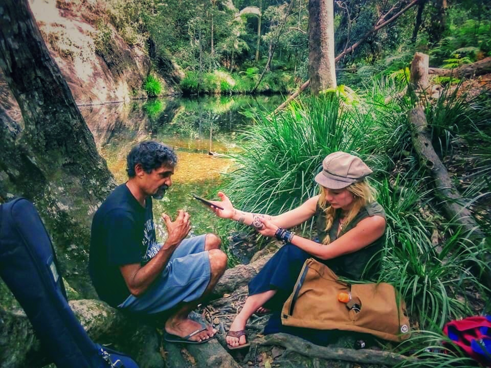 Recording deep in the bush on the sacred ancestral meeting grounds of the Kabi Kabi People in Eastern Australia.