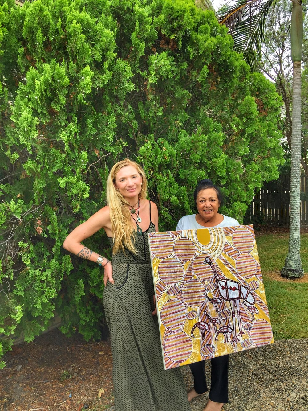 Interviewing a Kabi Kabi Indigenous Aboriginal Australian Elder in Eastern Australia.