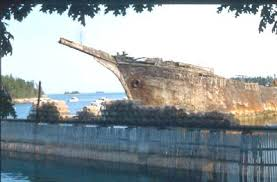 The Cora Cressy shipwreck adjacent to our oyster leases.
