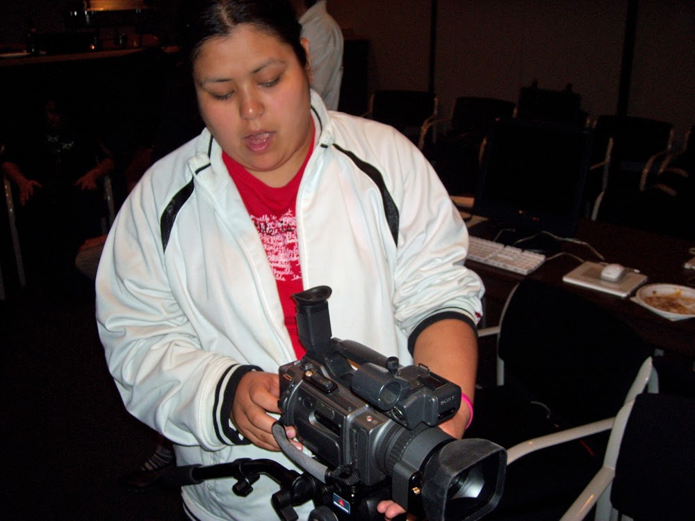 Ernestdeen learns the PD150 that she will use for her special effects video