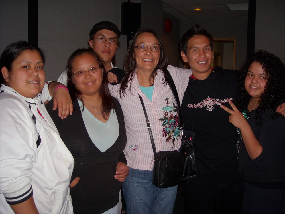 Ernie, Sam, Perry,  Tantoo Cardinal , Malcolm and Manuela!