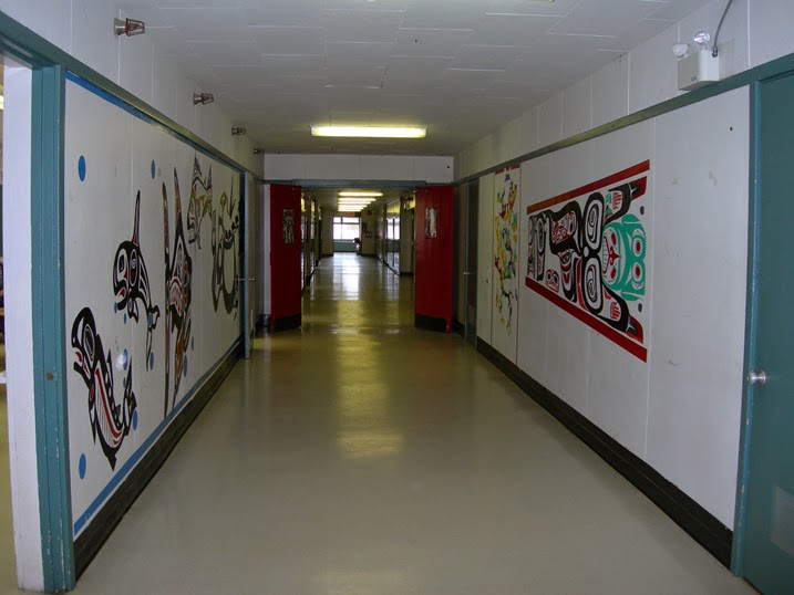The art filled hallways