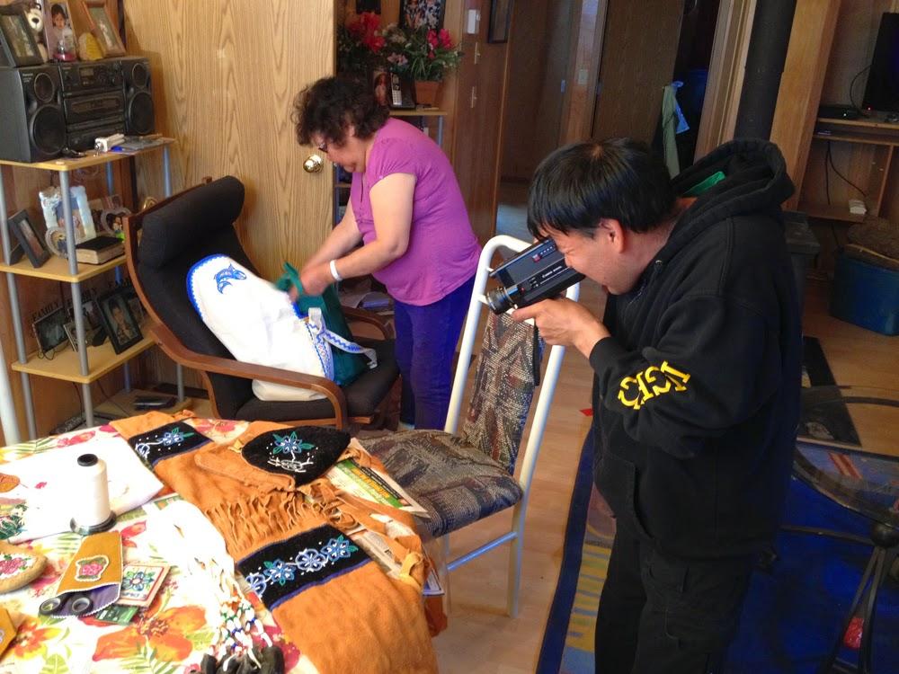 Edward uses the macro setting on the camera