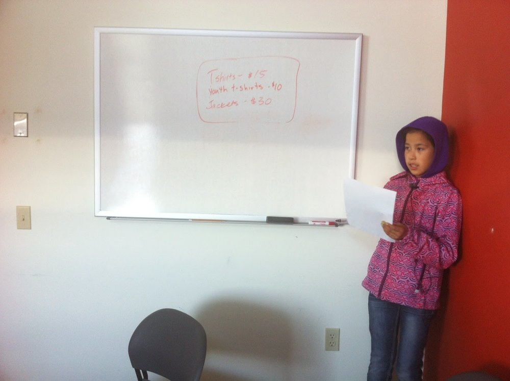 Kayleen records her Gwich'in Phrases