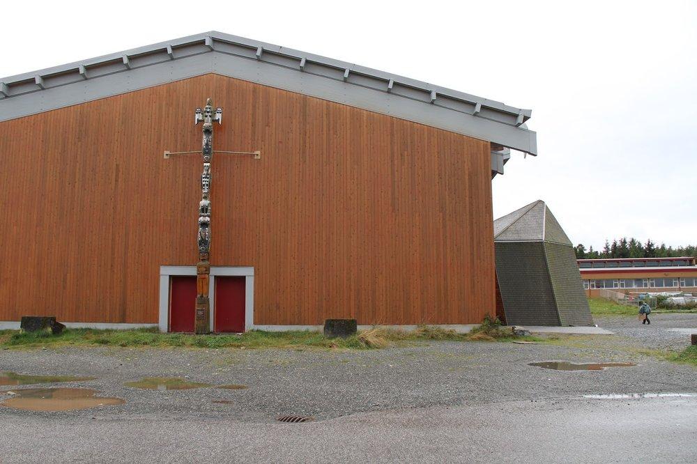 The gym of the Bella Bella Community School