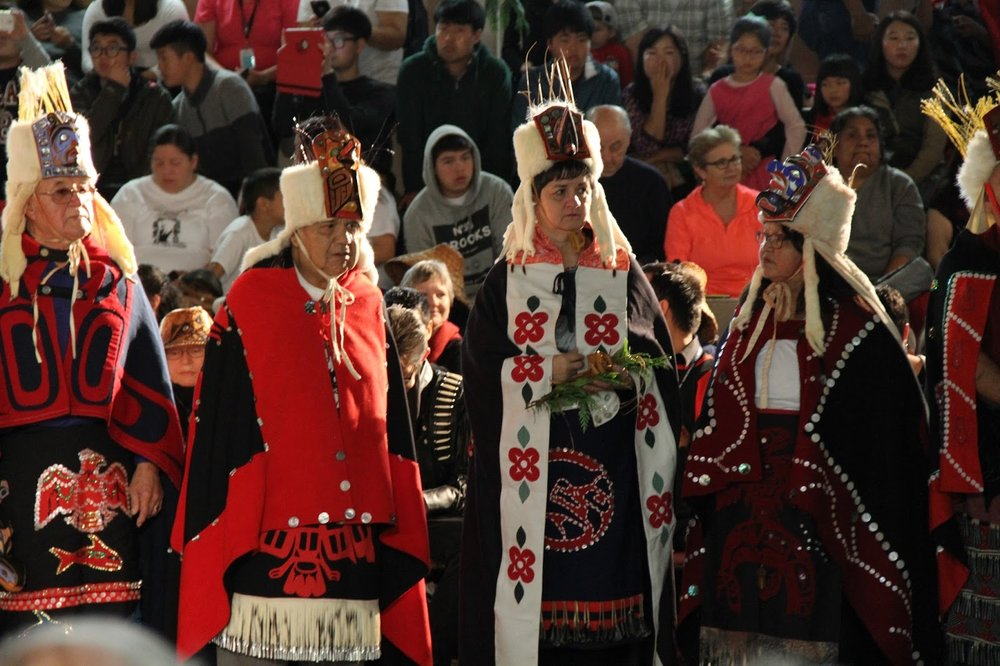 Heiltsuk Hemas in more incredible regalia