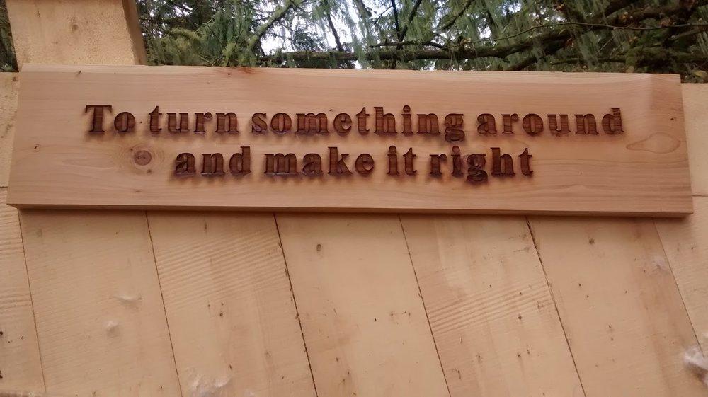TURN SOMETHING AROUND AND MAKE IT RIGHT!