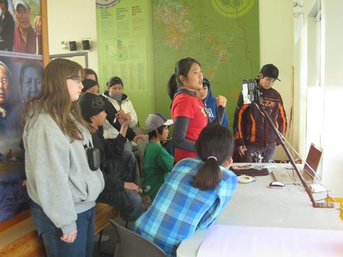 Elisa holds her animation workshop.