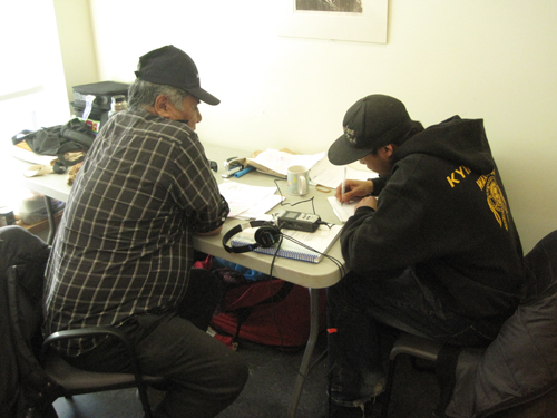 Joel and Brandon are our translators again, they have a very difficult job!