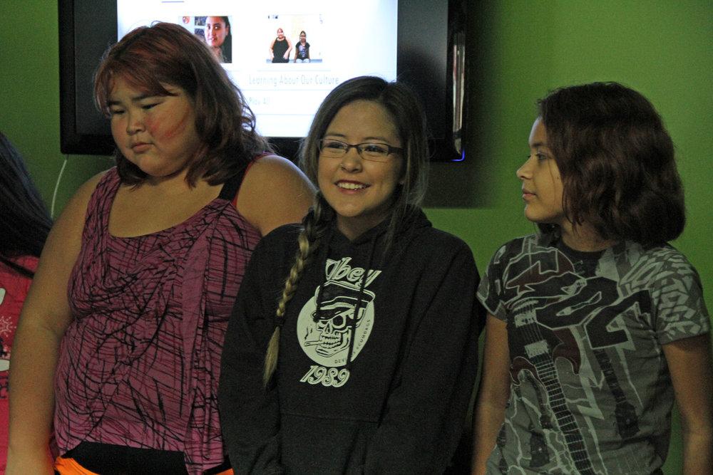 Happy filmmakers Natalia, Alexa and Elle!