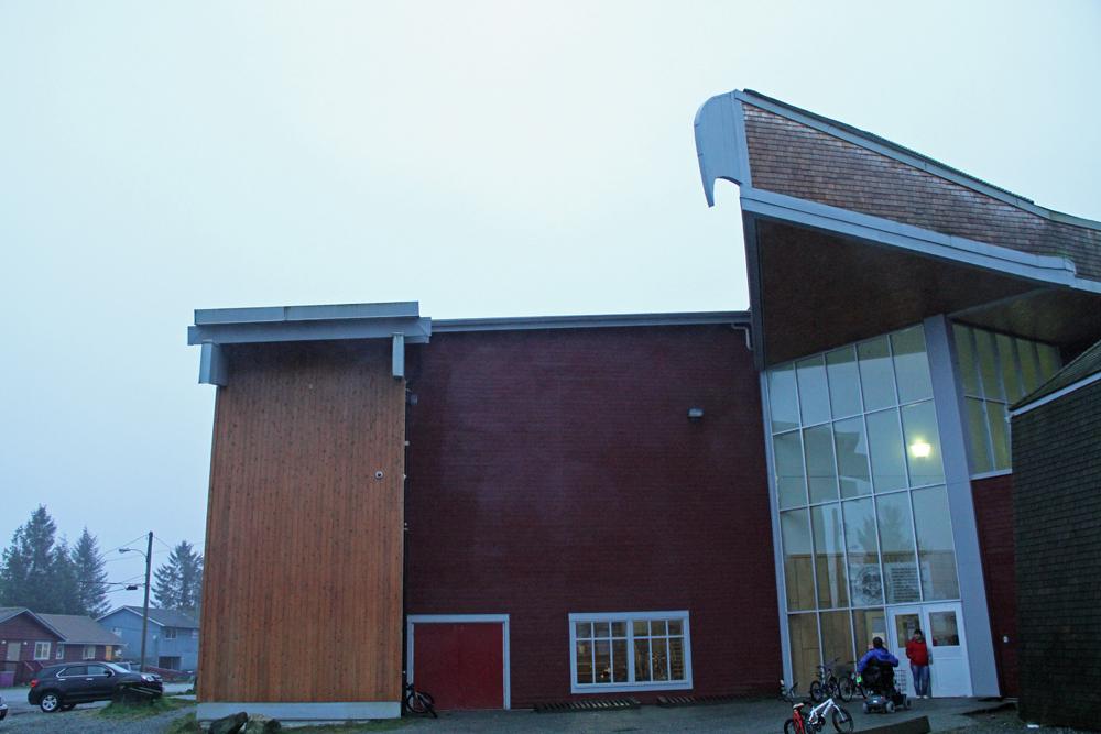 Notice the Eagle beak design detail of the school!
