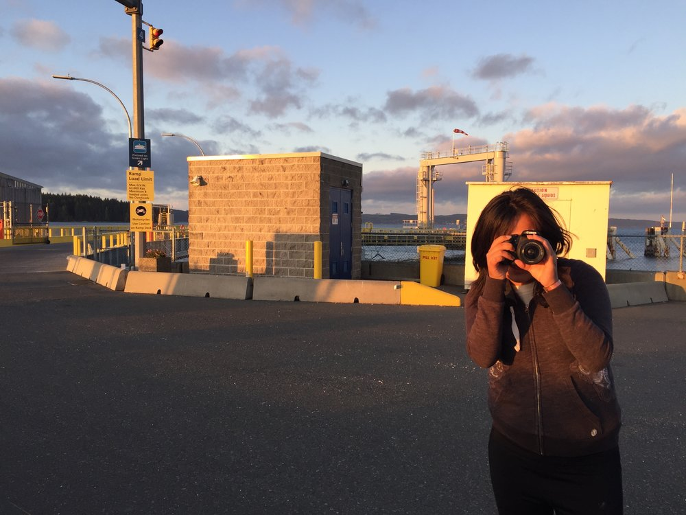 Roberta captures some stills and video during MAGIC HOUR! (Check out that gorgeous lighting....)