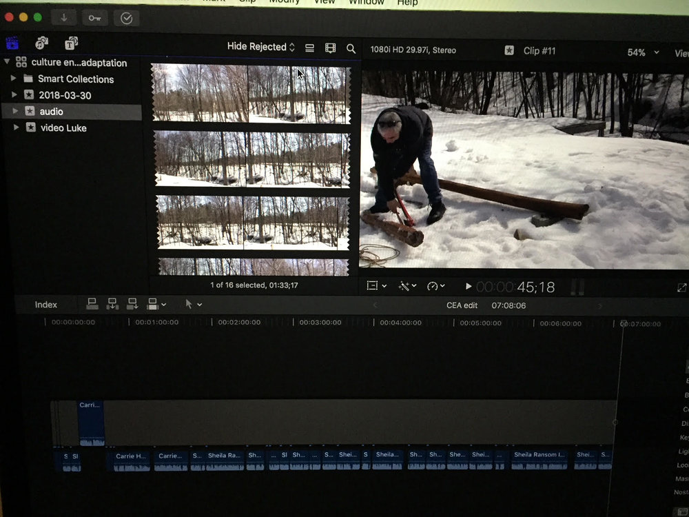 Lorrie's footage that she filmed today...