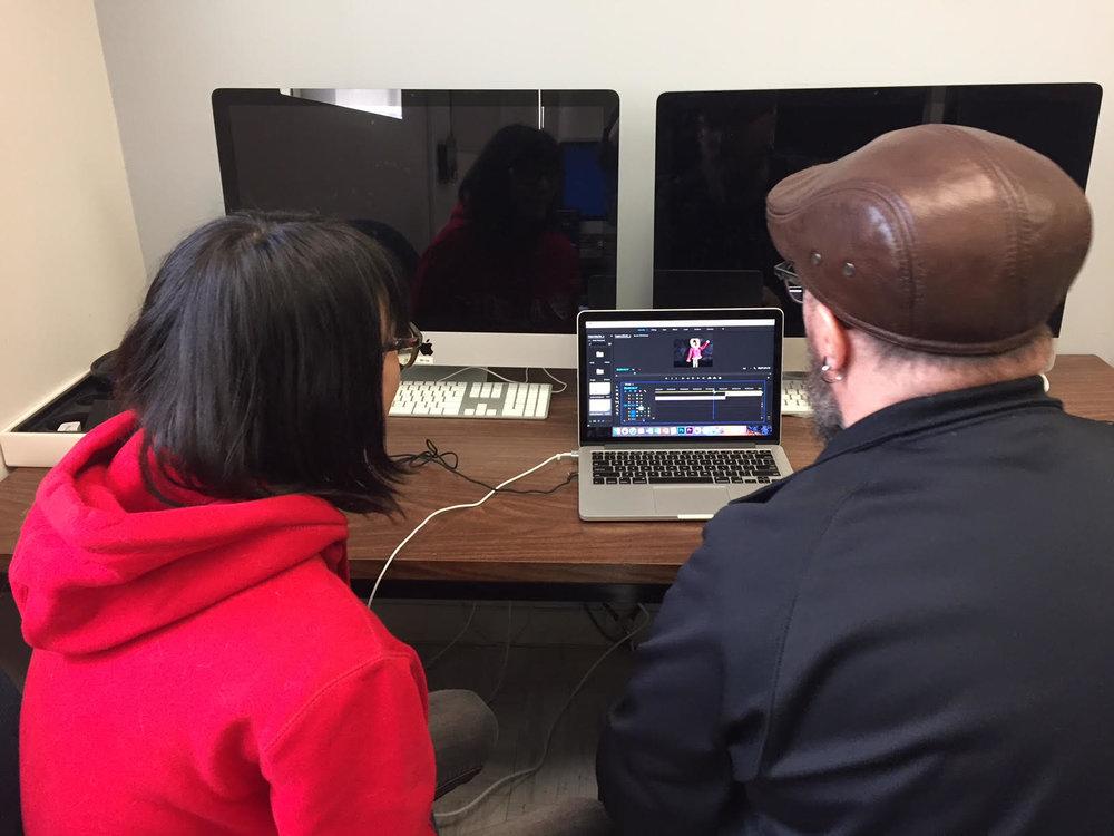 Pasha and Glenn get Pasha's editing program set up for the long day!