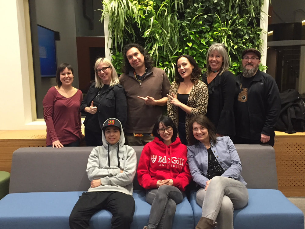 The workshop team STANDING:Courtney, Lisa g, Jesse, Brooke, Vicky, Glenn SEATED: Kaherahtens, Pasha & Michelle (missing: Lorrie)