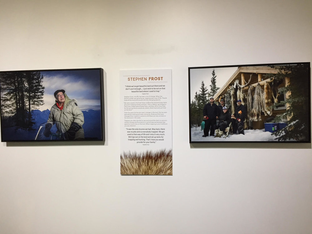 Stephen Frost featured in an exhibition about trapping