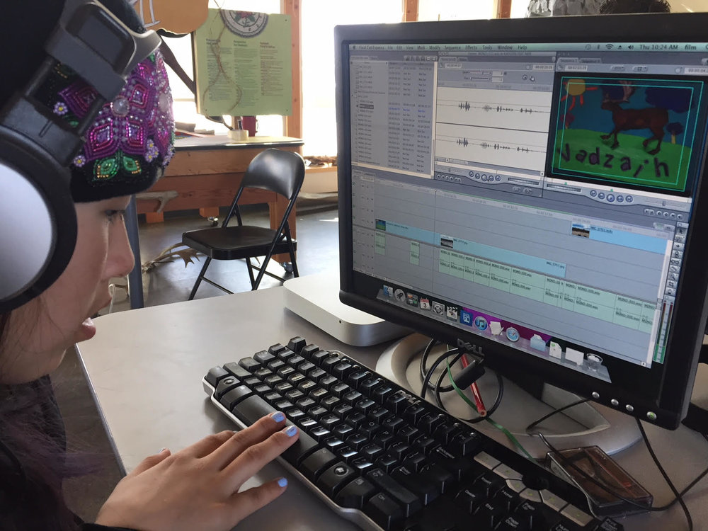 Kayleen putting her final touches on her film!