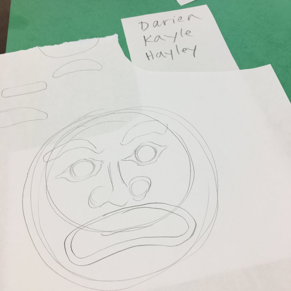 A sketch of the head (and mouth) that the Hamatsa may emerge from…
