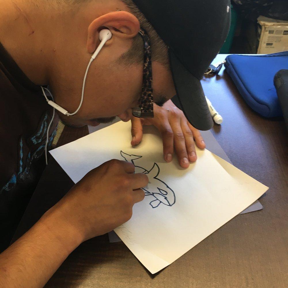 Darian is an artist !