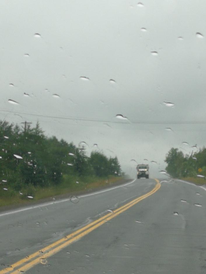 Then the rain comes…