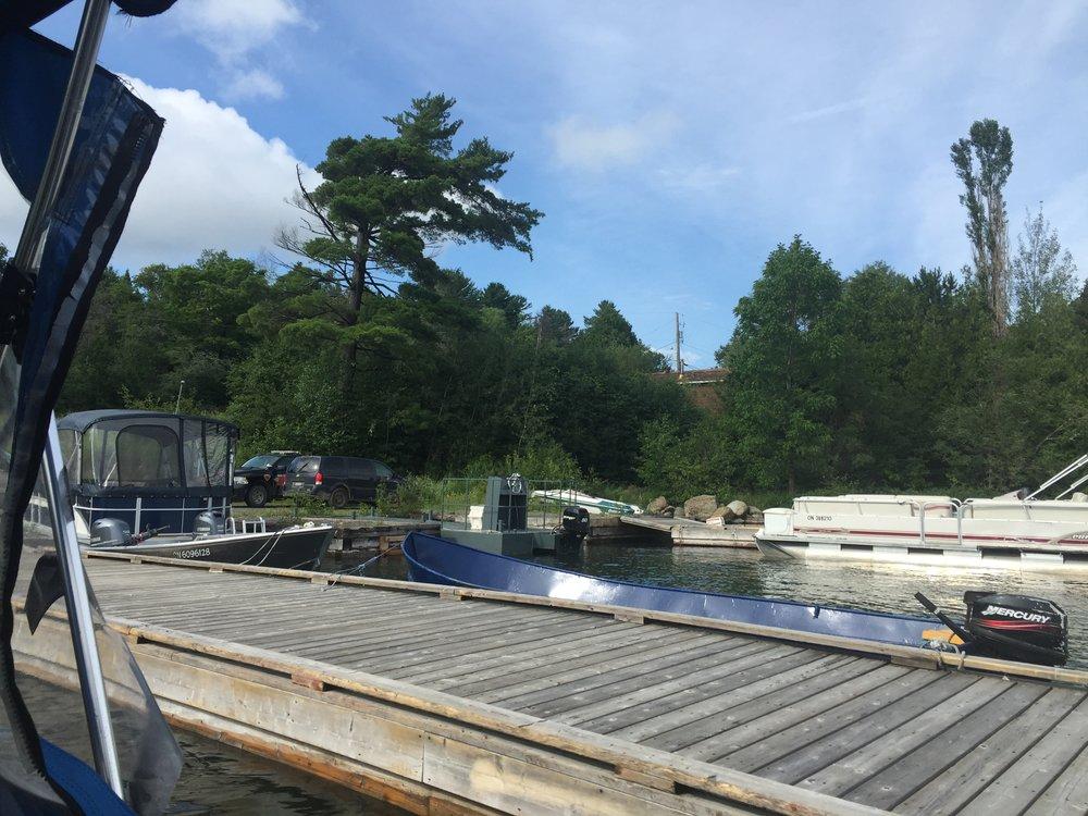 Bear Island dock…