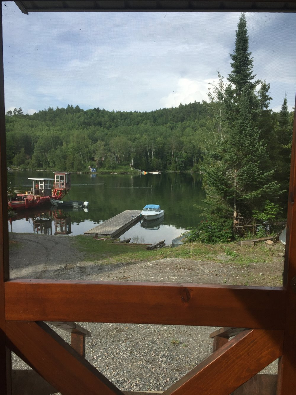 The view from the mentors' home away from home: Linda's Wigwam!