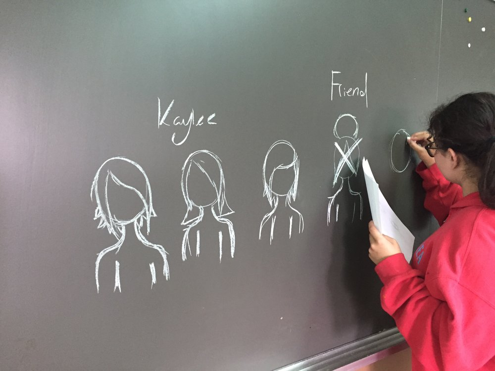 Kaiya designs her characters