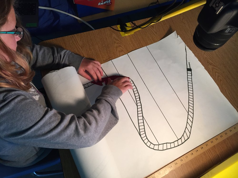 Alysha animates her roller coaster!