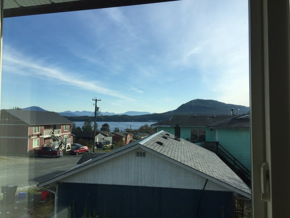 Hailika'as Heiltsuk Health Centre supplied the accommodations with this amazing view!